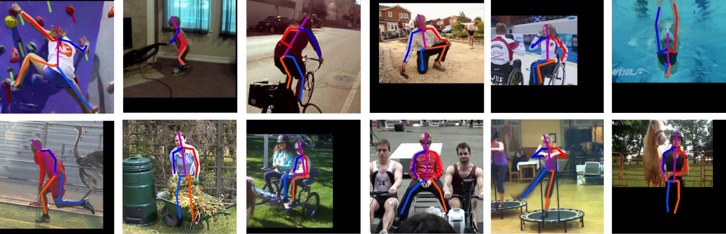 Example of fitting on human pose estimation, MPII dataset